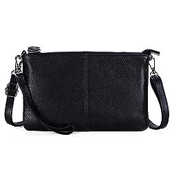 Befen Women S Genuine Smartphone Leather Wristlet Crossbody Wallet Purses And Handbags Mini Crossbody Bag Clutch Wallet With Crossbody Strap Black