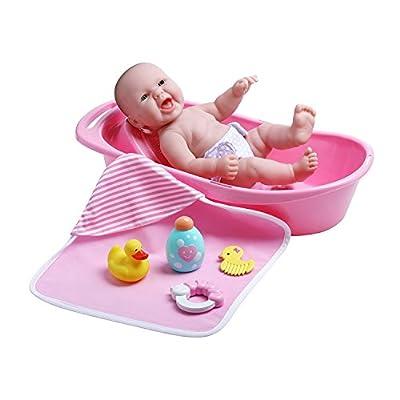 JC Toys La Newborn Realistic Baby Doll Bathtub Gift Set Featuring 13