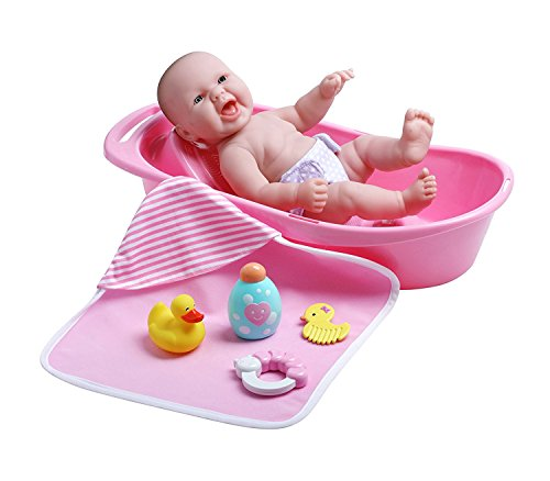 JC Toys La Newborn Realistic Baby Doll Bathtub Gift Set Featuring 13