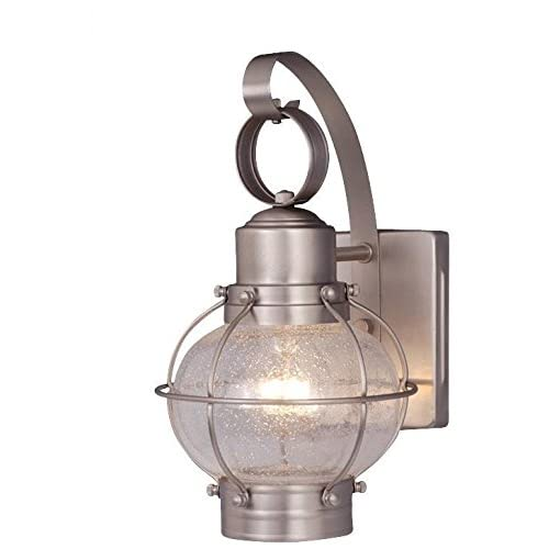 nautical wall sconce plug in vaxcel ow21861bn chatham 7inch outdoor wall light brushed nickel nautical sconce amazoncom
