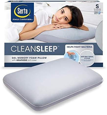 Amazon Com Serta Cleansleep Antibacterial Sleep Gel Memory Foam