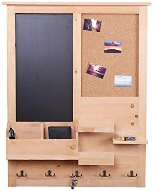 ディスプレイスタンド メッセージボードの金属のホックが付いている浮遊壁の棚の多機能の木の壁に取り付けられた収納ラックはポーチのコートの棚として使用することができます QTKGG