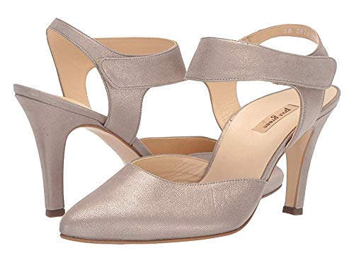 Paul Green Women's Nicolette Heel Champagne Metallic Suede 7.5 M US