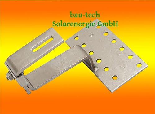 bau-tech Solarenergie 1 Dachhaken A2 / 1 Fach verstellbar für Dachsteine, Dachpfannen GmbH