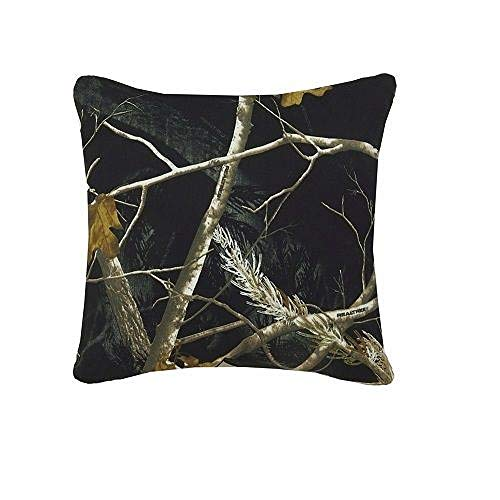 Realtree All Purpose Camo Reversible Black and White Square Pillow 18