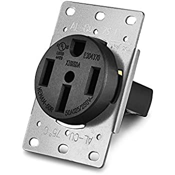 Aweking UL Listed 50 Amp 50A Power Receptacle Outlet NEMA