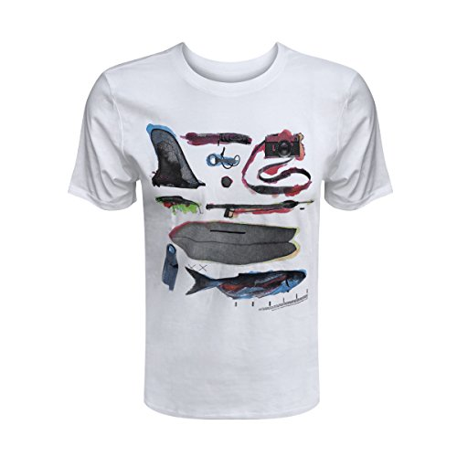 leeve Logo Graphic Tee (Flash White, S) (Hurley Flash)