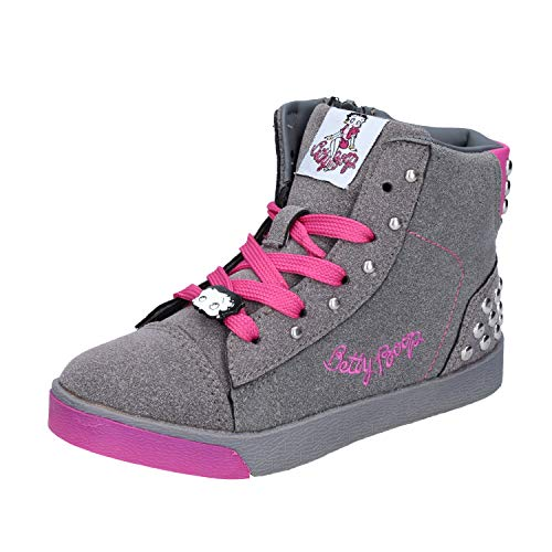 Footwear Betty - Betty Boop Fashion-Sneakers Baby-Girls Suede Grey 11 US