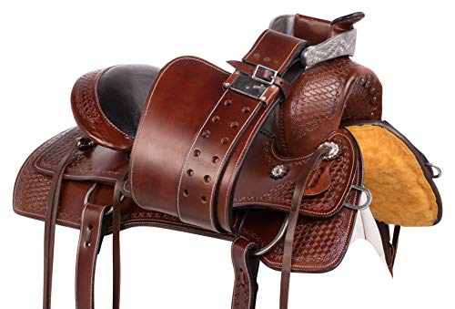 AceRugs Pleasure Trail Comfy CUSH Memory Foam SEAT Western Leather Horse  Saddle TACK Bridle REINS Breastplate (16)