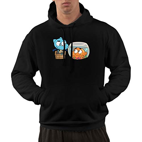 IOBZXZWRYM The Amazing World of Gumball Mens Cool Sweater Black