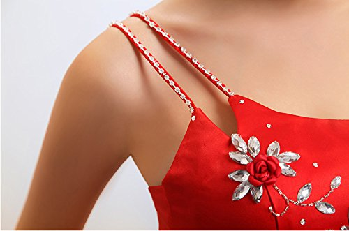 Mermaid Emily Beauty One Shoulder formale mit Rot Abendkleid d1qtqO
