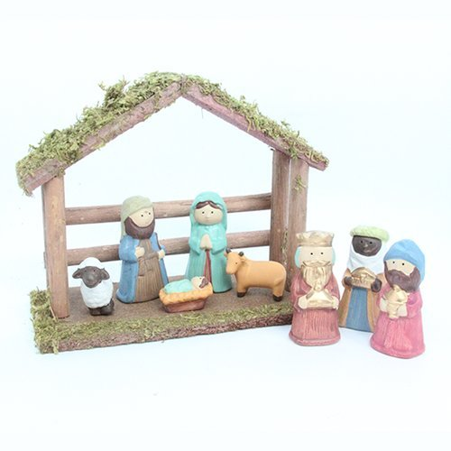 Gisela Graham Childrens Ceramic Nativity Set by Gisela Graham