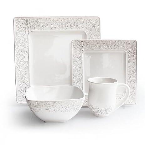 Belinda Square 16-Piece Dinnerware Set  sc 1 st  Amazon.com & Amazon.com | Belinda Square 16-Piece Dinnerware Set: Dinnerware Sets