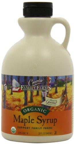 Кумбс семейных ферм 100% Pure Органический кленовый сироп, класс B, 32 унций.