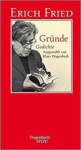 Gründe Gesammelte Gedichte Erich Fried 9783803111111