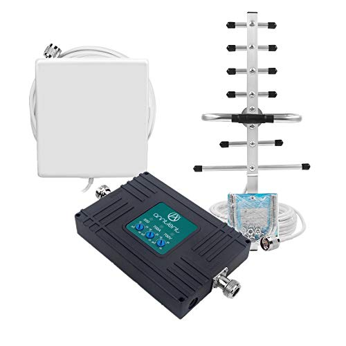 (Cell Phone Signal Booster for Home & Office - Verizon AT&T T-Mobile 3G 4G LTE Cellular Repeater Boosts Voice and Data Signal - Dual 700/850MHz Band 5/12/13/17 Amplifier Kit with Panel/Yagi Antennas)
