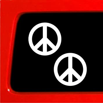 Peace Sign Symbol Car or Truck Window Laptop Decal Sticker