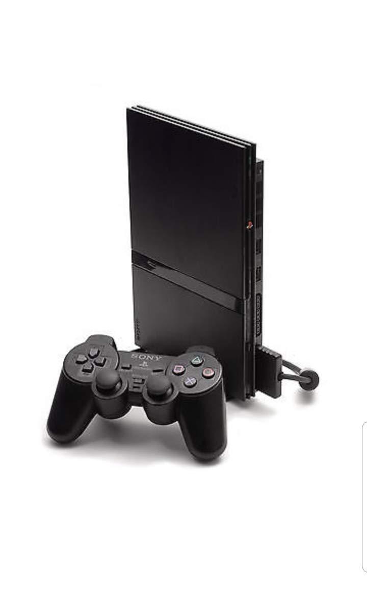 PlayStation 2 Console (Slim Line Version 1) (Renewed)