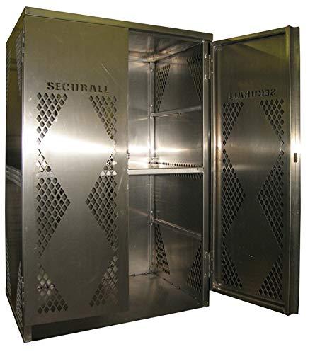 Oxygen Gas Cylinder Cabinet - Securall LP12-VERTICAL 12 Cyl. Vertical Standard 2-Door for Aluminum Cabinet for Storing LP & Oxygen Gas Cylinders
