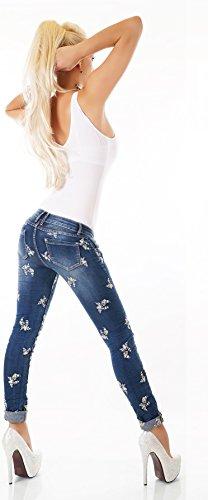 Noir Triple XXX - Jeans - Skinny - Femme bleu Blue Wash
