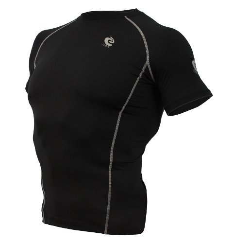 COOVY Sports Compression Under Base Layer Heat Cold Armour Short Sleeve Wear Tops