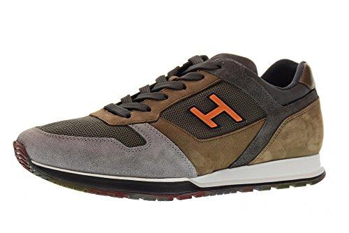 Hogan Scarpe Uomo Sneakers Basse Hxm3210y861ii H3210961g Grigio / Marrone