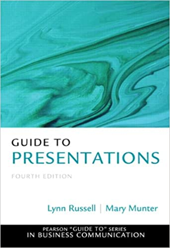 Guide to presentations 4th edition pearson guide to series in guide to presentations 4th edition pearson guide to series in business communication 9780133058369 business communication books amazon fandeluxe Images