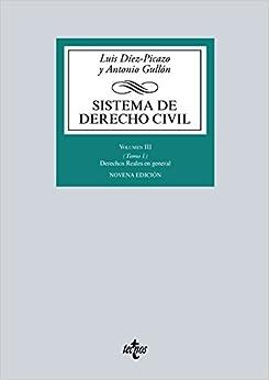 Sistema De Derecho Civil: Volumen Iii (tomo 1) Derechos Reales En General por Luis Díez-picazo epub