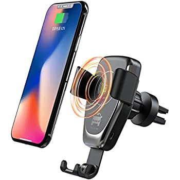 Acumen Wireless Car Charger Mount with Infrared Sensor Automatic Clamping Phone Holder Air Vent Mount Compatible with S9//S8 Note 8//9 X//Xs//Xs Max//8 and More Smart Phone Car Charger Include B1ack