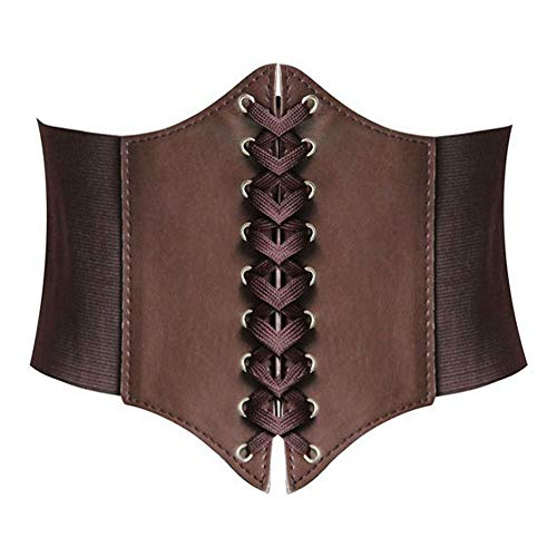 Hanerdun Lace-up Corset Elastic Retro Cinch Belt Waist Belt Four Sizes ()