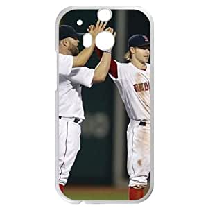 MLB&HTC One M8 White Boston Red Sox Gift Holiday Christmas Gifts cell phone cases clear phone cases protectivefashion cell phone cases HABC605585250
