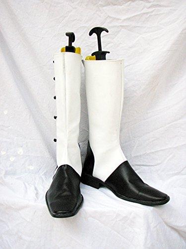 Koroshitsuji Majordome Noir Le Ringmaster Charles Gris Chaussures De Cosplay Bottes Faites Sur Commande