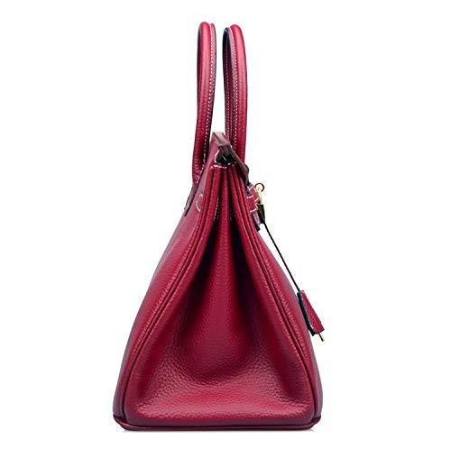 Mano Getthatbag Red A Burgundy Rosso Stitches White Borsa Large Donna aETaOqWr