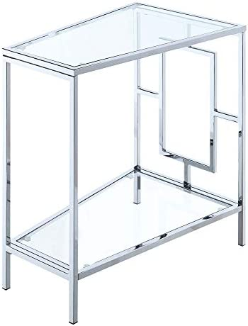 Convenience Concepts Town Square Chrome Wedge End Table