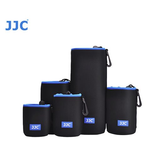 JJC NLP-13 Neoprene Lens Case For Canon 18-134mm 55-250mm 15-85mm 18-200mm Nikon 18-300mm 18-140mm 18-55mm 18-105mm Sony 18-55mm 55-210mm ith A&R Cleaning cloth
