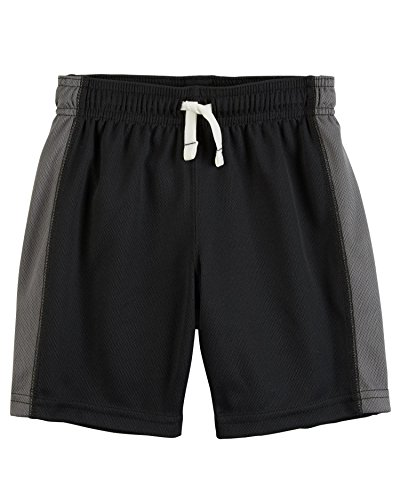 Carter's Baby Boys' Pull-On Mesh Shorts, Black/Gray, 9 Months by Carter's
