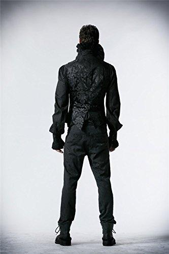 Manches Devil Royal Tailles Aristocrate 6 Hommes Gilet Gilet Shackles Impression V Col Punk Gothique Sans Court 14vURq1w