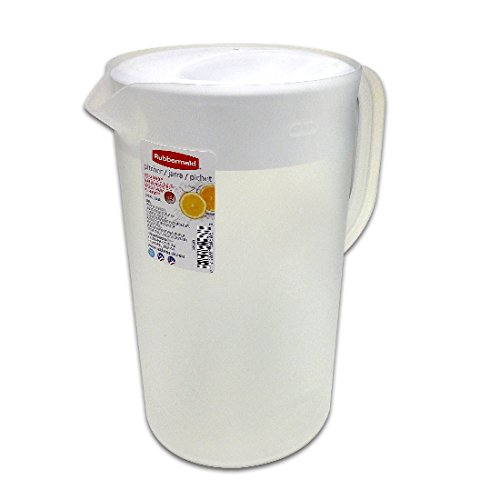 Rubbermaid 26072 Limited Edition Dishwasher Safe Pitcher, White (Pitcher Plastic Rubbermaid)