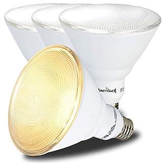 AmeriLuck 4 Pack Outdoor PAR38 LED Flood Light Bulb, 90W Equiv, Non-dimmable 13W, 3000K Warm White