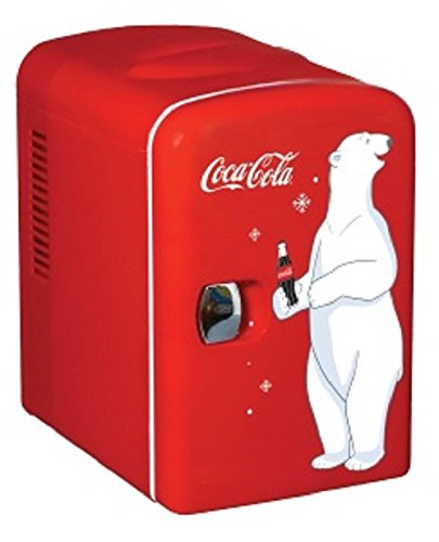 Coca-Cola KWC-4 6-Can Personal Mini 12V DC Car and110V AC Cooler by Coca-Cola