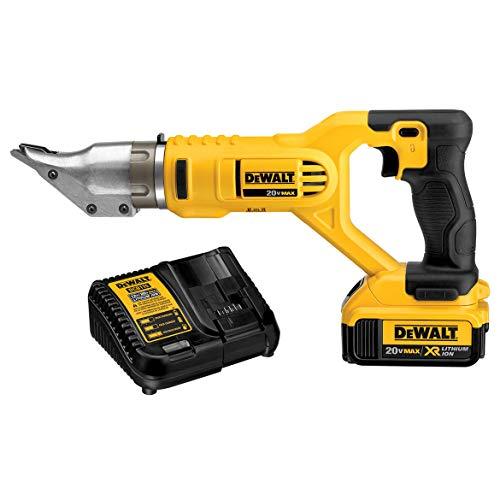 DEWALT 20V MAX Metal Shear Kit, Swivel Head, 18GA (DCS491M2)