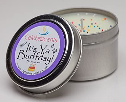 Amazoncom Strong Birthday Cake Scented Soy Candle with Sprinkles