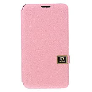YULIN PU de cuero de caso completo del cuerpo para Samsung NOTA 3 (rosa)