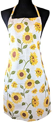 - DBD Home Lightweight Cotton Apron with Colorful Pattern (Sunflower)