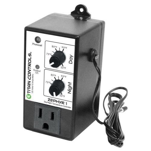 Titan Controls Day/Night Temperature Controller, Single Outlet, 120V - Zephyr (Night Temperature Controller)