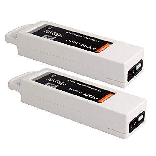 MIFXIN 2 Pack Yuneec Q500 Battery 5400mah 3S 11.1V Flight Lipo Battery Compatible Yuneec Q500 4K Typhoon RC Drone