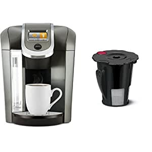 keurig k575 coffee maker platinum and keurig 119367 2 0 my k cup reusable coffee. Black Bedroom Furniture Sets. Home Design Ideas