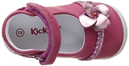 Kickers Baby Mädchen Gaellane Krabbelschuhe Rose (Fuchsia Rose Metal)