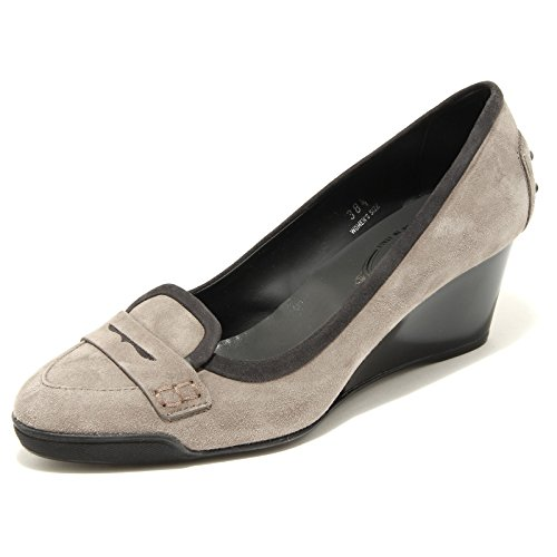 Grigio Decollete 25534 Scarpa Donna Tods Women Zeppa Grigio Shoes T5xqdwPgB