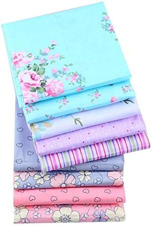 Shuan Shuo New Flower Series Cotton Fabric Quilting Patchwork Fabric Fat Quarter Bundles Fabric For Sewing DIY Crafts Handmade Bags Pillows 40X50cm 9pcs//lot